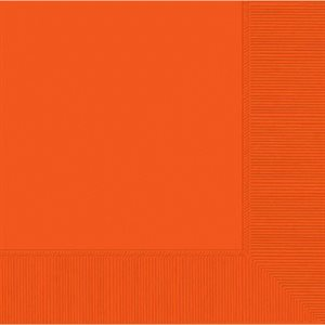 SERVIETTES BREUVAGE 50/PQT - ORANGE