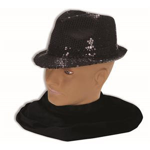 SEQUIN FEDORA-BLACK