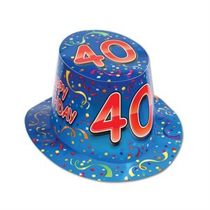 CHAPEAU 40 HAPPY BIRTHDAY BLEU