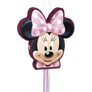 Disney Minnie Shaped Drum Pull Pinata