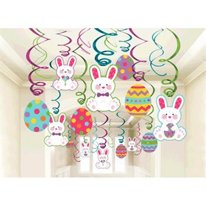 Easter Mega Value Pack Swirl Decorations - 30 pieces