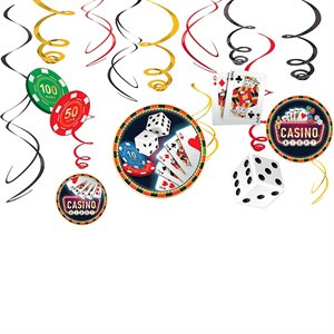 CASINO VALUE PACK FOIL SWIRL DECORATION 12/PKG
