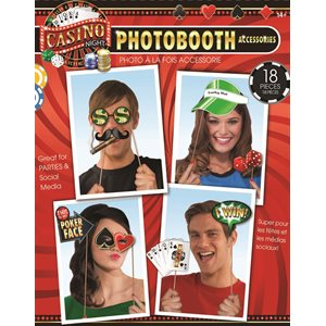 PHOTO BOOTH ACCESSOIRES CASINO