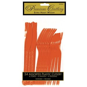 PREMIUM ASSORTED CUTLERY 24/PKG