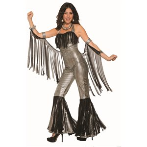 DISCO QUEEN JUMPSUIT- SILVER