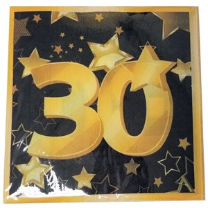 ÉTOILES OR 30 - SERVIETTES DE TABLE30