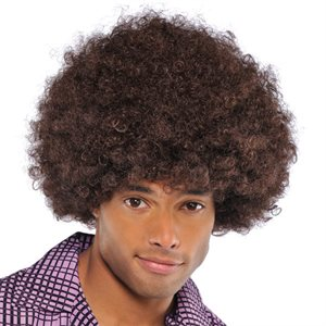 PERRUQUE AFRO - BRUN