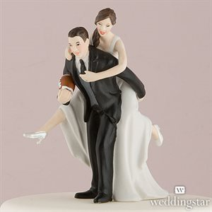 FIGURINE COUPLE MARIÉ FOOTBALL