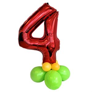 WEIGHT - BALLOONS BASE WITH 34 IN. RED FOIL NUMBER