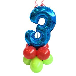 WEIGHT - BALLOONS BASE WITH BLUE NUMBER