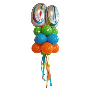 YARD BALLOONS ARRANGEMENT - AGE 65 COLORFUL