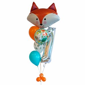 BALLOONS ARRANGEMENT - 1 YR OLD 34'' FOX & FRIENDS