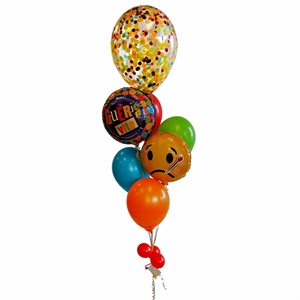 BALLOONS ARRANGEMENT - GET WELL SOON WITH 18 IN. CONFETTIS