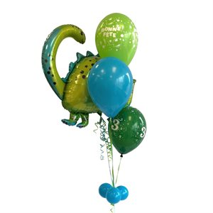 BALLOONS ARRANGEMENT - BRONTOSAURUS HAPPY BIRTHDAY 6 YRS OLD