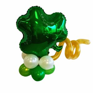 AIR FILLED BALLOONS WITH SHAMROCK FOIL