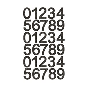 NUMBERS - 1 SHEET BLACK