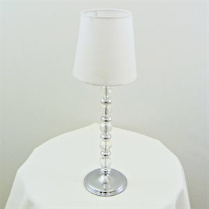 CENTRE DE TABLE LAMPE BLANCHE - LOCATION