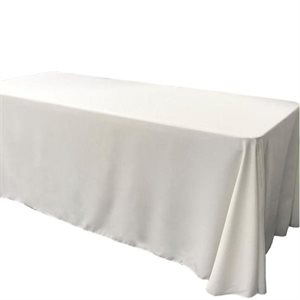 POLYESTER RECTANGULAR TABLECLOTH 60'' X 120'' - RENTAL