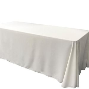 NAPPE RECTANGULAIRE EN POLYESTER 90 X 156 PO. - LOCATION