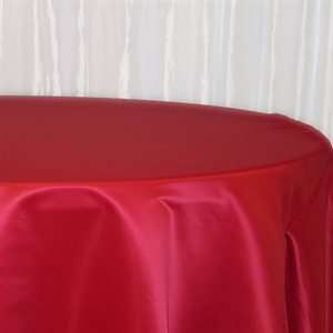 NAPPE RONDE EN SATIN 120 PO. - LOCATION