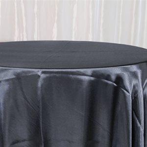 BRIDAL SATIN ROUND TABLECLOTH 120'' - RENTAL