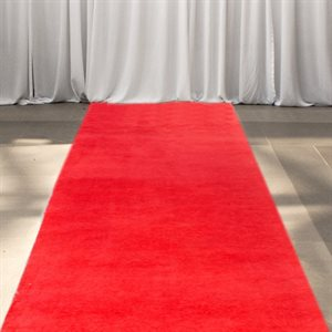 RED AISLE RUNNER 3 FT. X 30 FT. - RENTAL