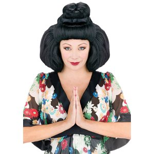 OVERSIZED GEISHA WIG-BLACK