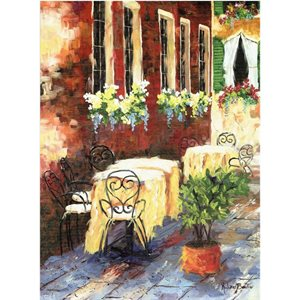 CARTE 11 5/8'' X 15 7/8'' TABLE ET CHAISE